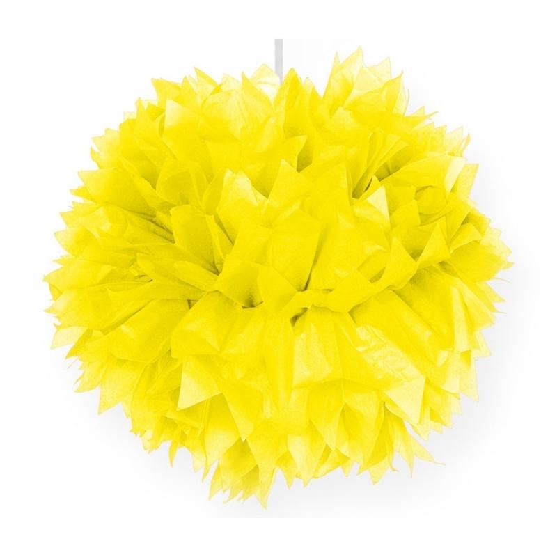 Pompoms   geel   30 cm