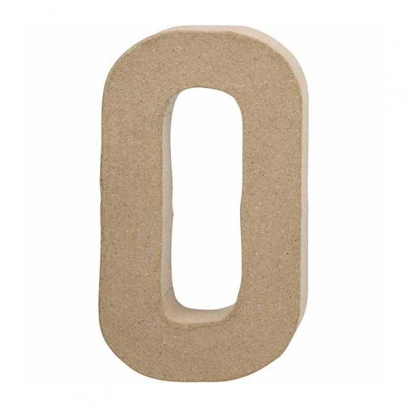 Papier-mache Letter O - 20 cm