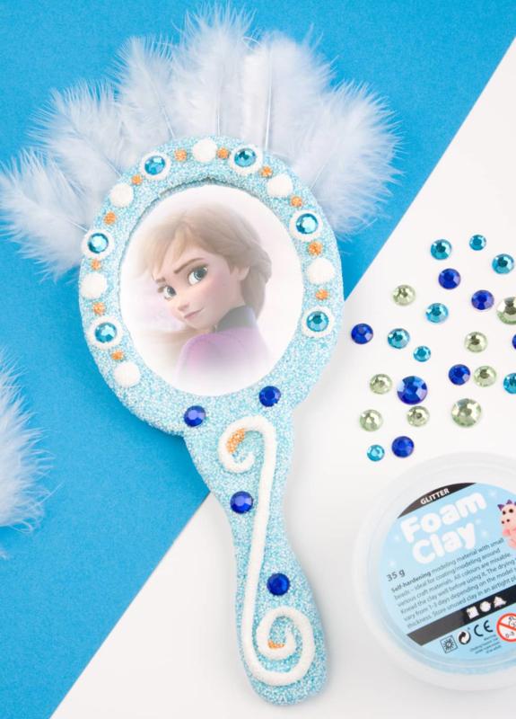Knutselpakket Kinderfeestje - 6 x Frozen Handspiegels versieren