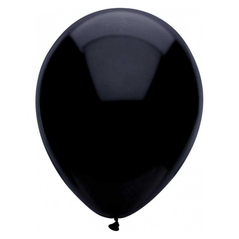 10 Ballonnen Zwart