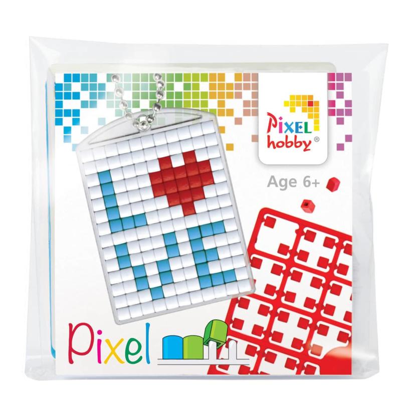 Pixelhobby Sleutelhanger Love