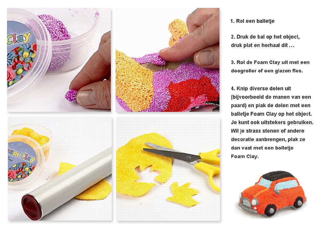 Wat is Foam Clay / klei en wat kun je ermee doen. Bekijk bij Party Post de werkwijze en leuke voorbeelden!