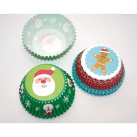 Muffin bakvormen 50-pack! met kerstmotieven.