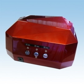LED Nagellamp met Timer Dark red