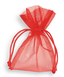 Organza zakje rood per 10st. 10 x 15cm