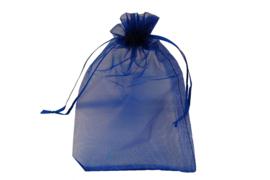 Organza zakje donker blauw 15 x 21cm  per 5 st