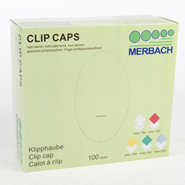 Merbach Haarnetje(s)/Clip Caps blauw 100st.