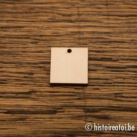 Vierkant 2cm - met gaatje