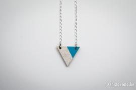 Hanger driehoek blauw&zilver
