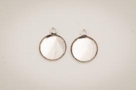 Zilverkleurige oorhangers - 10mm