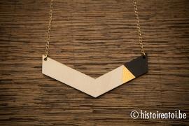 V-hanger zwart&goud - groot