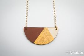 Hanger halve cirkel bruin&goud