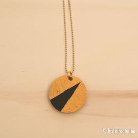 Halsketting rond goud en zwart