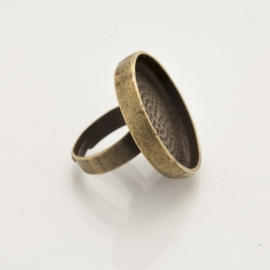 Bronskleurige ring -  Rond 25mm