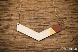 V-hanger bruin&goud - groot