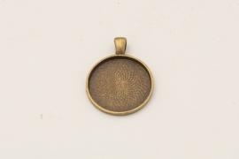 Bronskleurige ketting - Rond 25mm