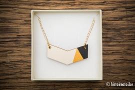 V-hanger zwart&goud - klein