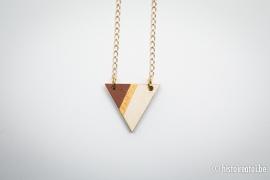 Hanger driehoek bruin&goud 2