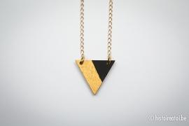 Hanger driehoek zwart&goud 2