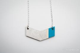 V-hanger zilver&blauw