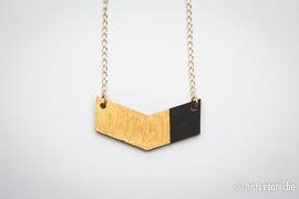 V-hanger zwart&goud - medium 2