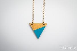 Hanger driehoek blauw&goud