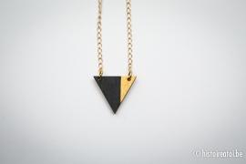 Hanger driehoek zwart&goud