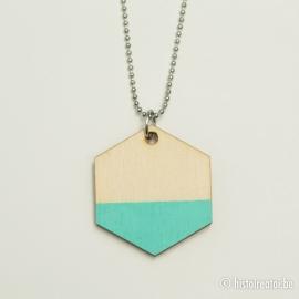Hanger zeshoek lichtblauw