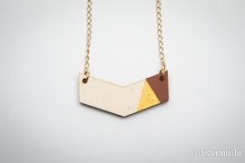 V-hanger bruin&goud - klein