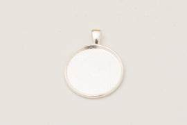 Zilverkleurige ketting - Rond 25mm