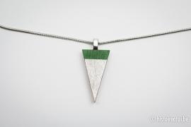 Hanger driehoek groen&zilver