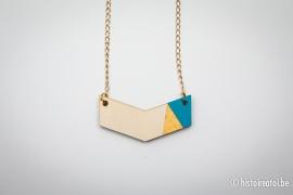 V-hanger blauw&goud