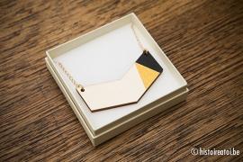 V-hanger zwart&goud - medium