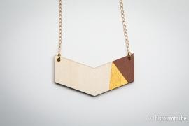 V-hanger bruin&goud - medium
