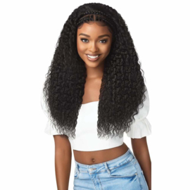 """Outre Synthetic Pre-Styled Lace Front Wig - Halo Stitch Braid 26"""""""