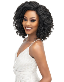 Janet Collection Natural Me Yaki Textured Deep Part Lace Front Wig Kiara