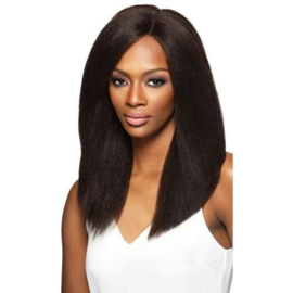 Outre Simply 100% Non-processed Brazilian Virgin Remy Human Hair Swiss Lace Front Wig - BRAZILIAN NATURAL BLOW OUT STRAIGHT