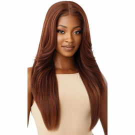 Outre Synthetic Pre-Plucked HD Transparent Lace Front Wig Kimora