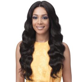 "Bobbi Boss 100% Unprocessed Brazilian Virgin Remy Bundle Hair Full Lace Wig - BNGLWOC28 OCEAN WAVE 28"""