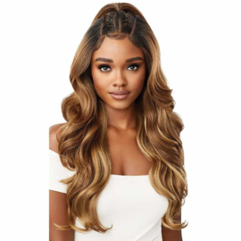 "Outre Perfect Hairline FAUX SCALP HD Transparent 13"" x 6"" Lace Front Wig Laurel"