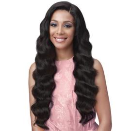 "Bobbi Boss 100% Unprocessed Brazilian Virgin Remy Bundle Hair Full Lace Wig - BNGLWOC32 OCEAN WAVE 32"""