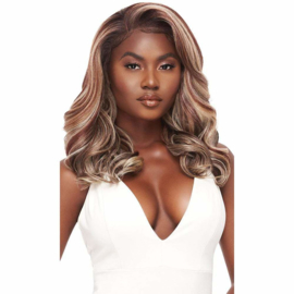 "Outre Perfect Hairline FAUX SCALP HD Transparent 13"" x 4"" Lace Front Wig Ella"