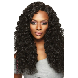 "Outre Purple Pack Brazilian Boutique Virgin Deep 18"", 20"", 22"" + 4"" Deep Lace Closure Kit"
