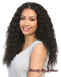 Sensationnel 100% Virgin Remi Bundle Hair Bare & Natural Silk Lace Closure - FRENCH TWIST 12 ' ------ # NATURAL BLACK