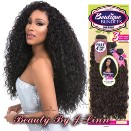"Sensationnel Premium TOO MULTI Boutique Bundles Deep 18"",20"",22"" + Free Lace Part Closure"