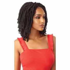 """Outre Twisted Up Synthetic Lace Front Wig - Straight Bomb Twist 14"""""""
