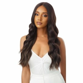 Outre Synthetic Sleek Lay Part HD Transparent Lace Front Wig Idina