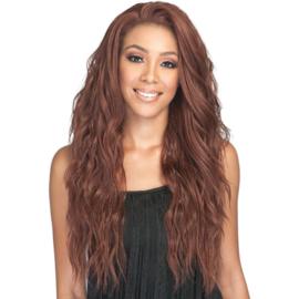 Bobbi Boss Human Hair Blend 360 Swiss Lace Front Wig MBLF270 Ambra