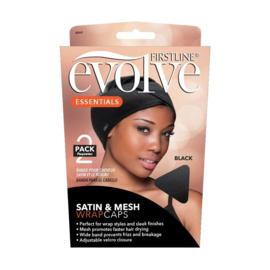 Evolve® Satin & Mesh Wrap Caps 8060