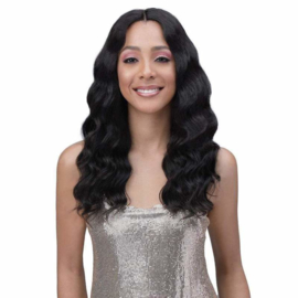 "Bobbi Boss 100% Unprocessed Human Hair 5"" Deep Part Lace Front Wig - MHLF702 DIA"